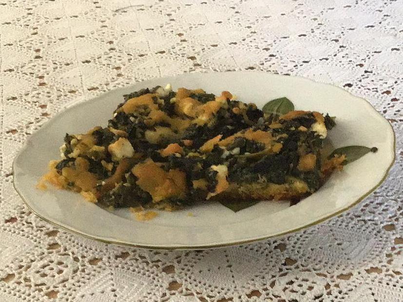 Πασπαλόπιτα με καλαμποκάλευρο