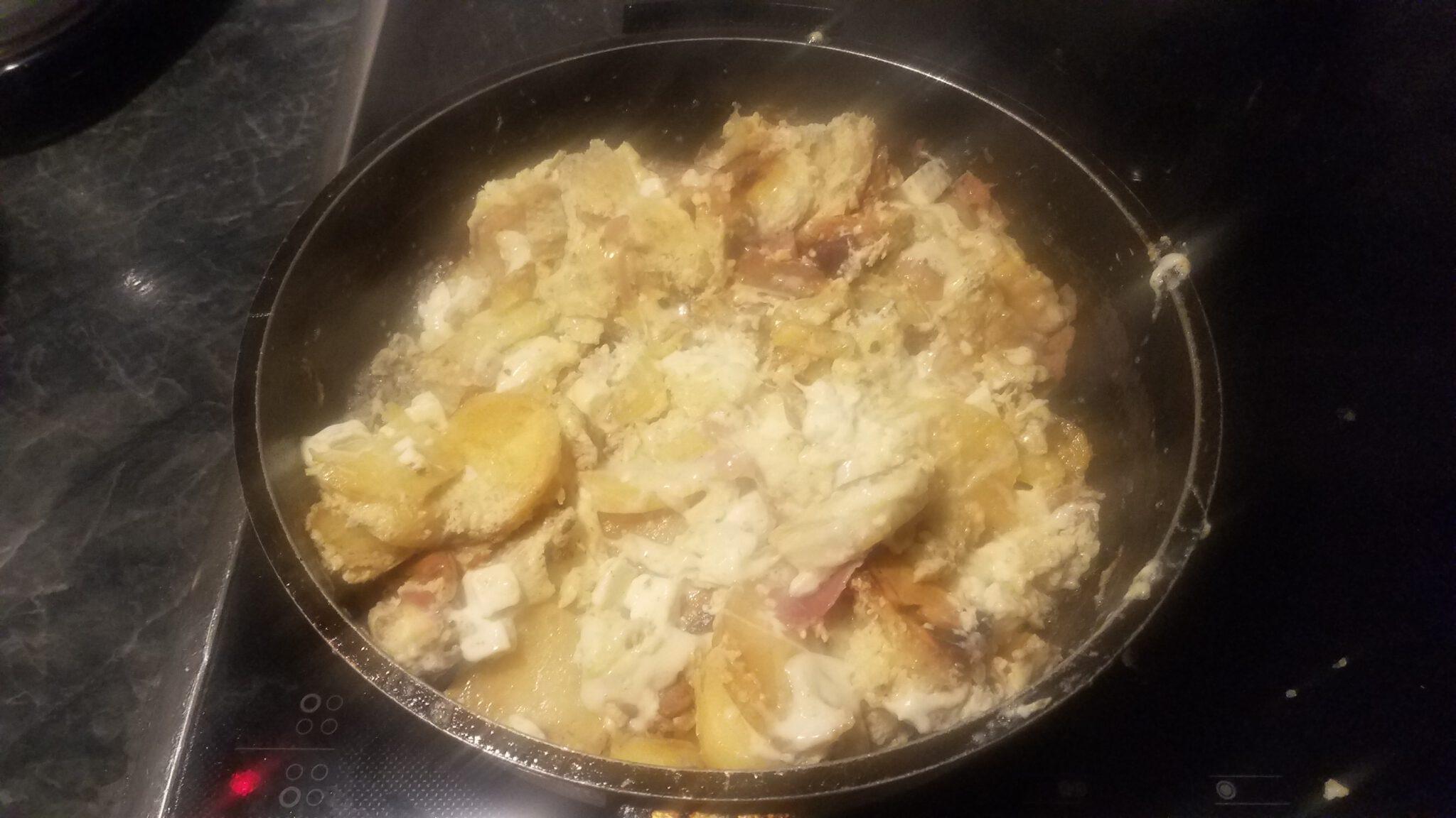 Τηγανητές πατάτες με αυγά