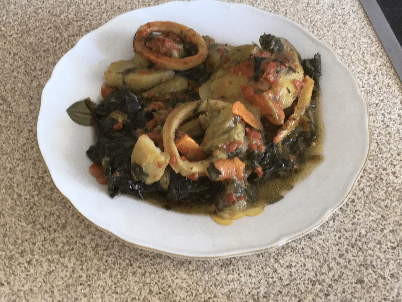 Λαχανικά με Θράψαλά στη γάστρα